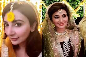 pictures of ayesha khan s mayon mehndi doing social a rounds