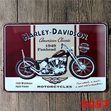 Harley Davidson Signs Decor Metal Signs Motorcycle Harley Davidson Retro Metal Poster 100 New 48