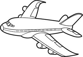 Small Picture Free Printable Jet Airplane Coloring Page for Kids
