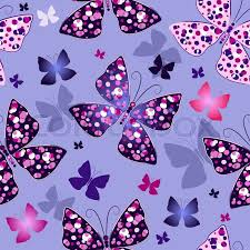 Butterfly Patterns Gorgeous Repeating Blue Pattern With Colorful Butterflies Vector Stock