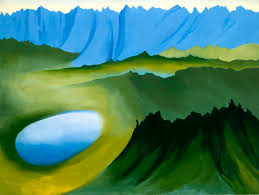 georgia o keeffe s fascination with the oval shape is appa in mountains and lake