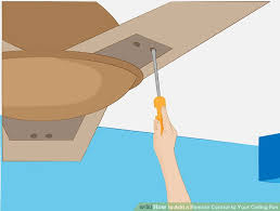 image titled add a remote control to your ceiling fan step 1