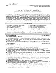 Project Specialist Sample Resume Interesting Construction Project Management Jobs Resume For R Ulann Gibbs