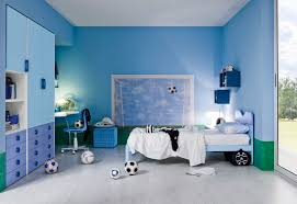 ... Beautiful Boys And Girls Bedroom Decoration Using Stunning Bedroom Mural  Design : Great Blue Walls Boy ...