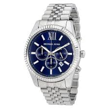 michael kors watches jomashop michael kors lexington chronograph navy dial men s watch