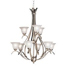 9 light chandelier brushed nickel loading zoom larger view rollover to zoom close