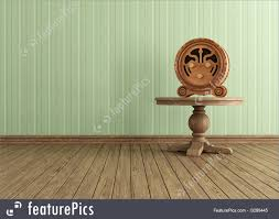 interior architecture vintage interior with old wooden radio on round table rendering