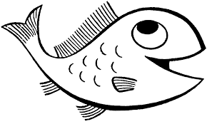 fish clipart black and white. Brilliant White To Fish Clipart Black And White O