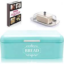 Turquoise Bread Box Unique Amazon Vintage Bread Box For Kitchen Stainless Steel Metal In