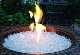 fire pit glass rocks for outdoor fireplace white ice crystals 10 lbs