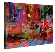 canvas print wall art big city life 100x75cm stretched canvas framed on a wooden on amazon uk wall art canvas with city canvas art print amazon uk