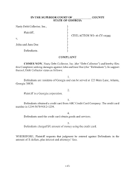Sample Civil Complaint Form Stunning How To Answer A Debt Collection Lawsuit