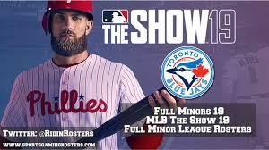Mlb 19 The Show Full Minors 19 Toronto Blue Jays