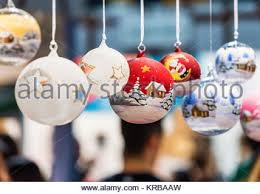 Hand Decorated Christmas Balls Artistically Hand Painted Christmas Glass Balls Stock Photo 57