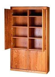 oak bookcase with doors bookcases forest designs furniture w full wood x sliding glass