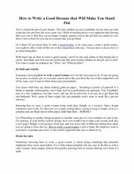 How To Write A Good Resume Objective. Resume Objective Examples For ...