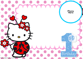 o kitty st birthday invitation template ladybug card free fresh of 1st birthday invitation template free