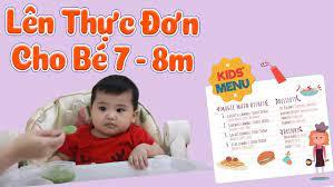 Cách lên THỰC ĐƠN ĂN DẶM đủ dinh dưỡng cho bé 7 - 8 Tháng theo ăn dặm Kiểu  Nhật + Truyền Thống & BLW | Trang cung cấp thông tin về