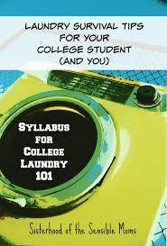 laundry survival tips for your college student and you syllabus for college laundry 101 it s never too late or too early to