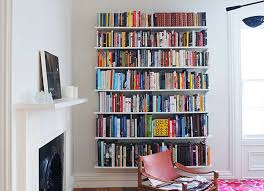 wall mounted book shelves  inspiring style for small wall
