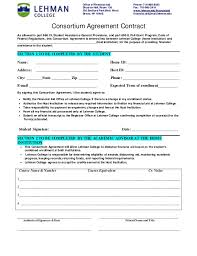 Student Agreement Contract Consortium Agreement 2014