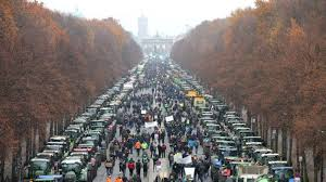 Berlin Daughter Posture Corrector Size Chart 40 000 Farmers On Tractors Block Berlin In Protest At New