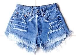 Levi High Waisted Shorts Size Chart Amazon Com Levis High Waisted Denim Shorts Distressed