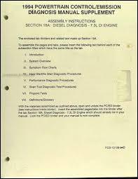 1994 1995 ford 7 3l idi diesel owner s manual original f250 f350 e350