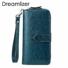 Dreamlizer <b>100</b>% <b>Genuine Leather</b> Wallet <b>Women</b> Triold Leather ...