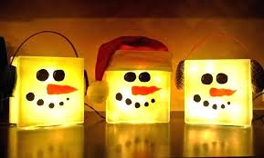 ideas for lighted decorative glass blocks ideas for lighted decorative glass blocks large lighted snowman glass