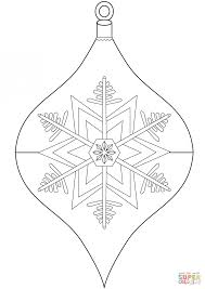 Small Picture Coloring Pages Christmas Bauble Ornament Coloring Page Free