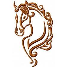 Výšivka Hlava Koně 2 Vyšívání Náš Koníček