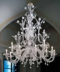 murano chandelier l7061k8 4 12 lights clear glass