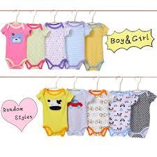 Random <b>5 Pcs</b>/<b>lot Baby Girl</b> Boy <b>Bodysuit</b> bebes Cotton O-Neck ...