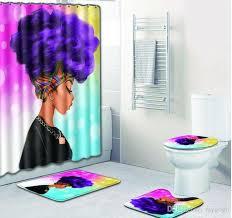 2021 new bathroom sets carpet rug