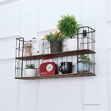 floating shelves 2 shelves wall shelf wood and black metal brackets cube floating shelves hanging shelf
