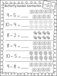 Subtraction worksheets, Worksheets and Worksheets for kindergarten ...Practice subtraction in the Spring with this free butterfly garden subtraction worksheet.