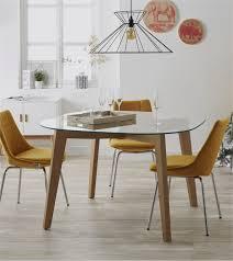 Table Chaise Scandinave Chaise Design Suédoise Simili Cuir Noir Et