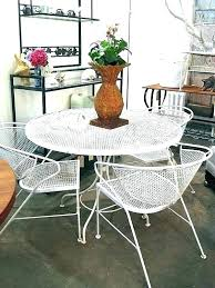deck wrought iron table. Vintage Wrought Iron Table And Chairs Kitchen Deck Patio Furniture Patterns S