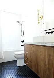 hex tile bathroom floor veneer washstand with black hex tile floor view full size hexagon tile
