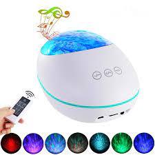 Şanslı taş okyanus dalgası projektör sahne ışık efekti gece lambası  Bluetooth müzik çalar uzaktan kumanda su dalgası renkli lamba|Stage  Lighting Effect
