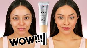 it cosmetics cc cream first impression i finally tried it and trinaduhra