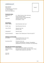 9 Lebenslauf Tabellarisch Sch Ler Resignation Format