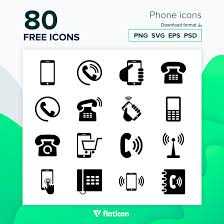 All contents are released under creative commons cc0. Phone Icons 80 Free Icons Svg Eps Psd Png Files