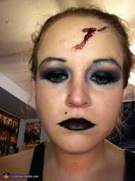 my make up with the green contacts tiffany bride of chucky costume