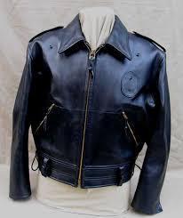vintage horsehide leather california highway patrol motorcycle jacket 1940s lost worlds