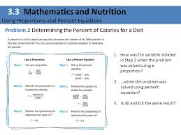 3 3 mathematics and nutrition using proportions and percent equations