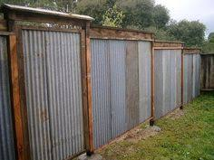 how to build sheet metal fence. Delighful How All Recycled Corrugated Metal Fence U2014 Lush Planet Design Buildgallery Diy  Fence Ideas In How To Build Sheet I