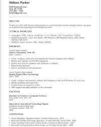 System Administrator Resume Template Sample Download Junior Engineer