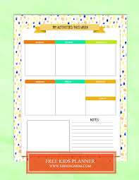 Free Printable Kids Planner Cute And Colorful